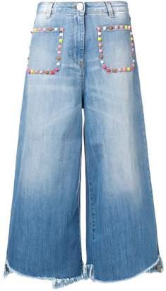 Elisabetta Franchi multicoloured stud jeans