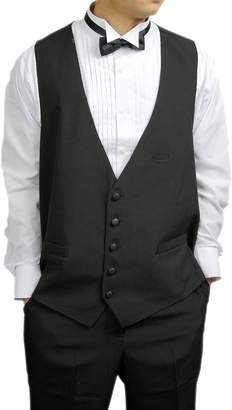 New Era Factory Outlet Men's 5 Button Dress Vest for Suit or Tuxedo with Bow Tie