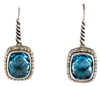 David Yurman Albion Noblesse Diamond & Topaz Drop Earrings