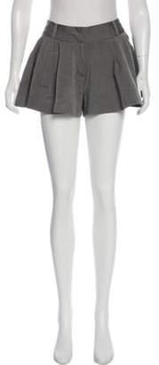 Alexander Wang Virgin Wool Mid-Rise Mini Shorts Grey Virgin Wool Mid-Rise Mini Shorts