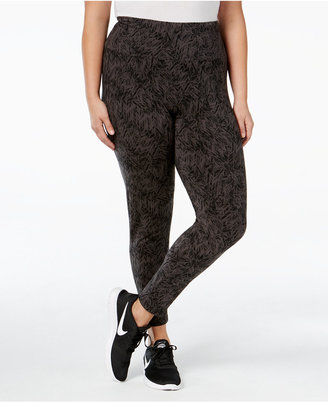 Style & Co Plus Size Printed Tummy-Control Yoga Leggings, Only at Macy's $27.98 thestylecure.com