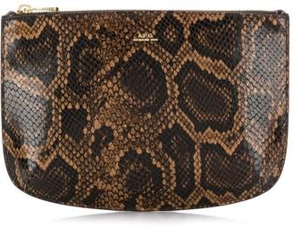 A.P.C. snakeskin effect clutch bag
