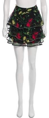 Jason Wu Grey by Floral Printed Mini Skirt w/ Tags