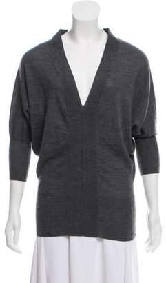 Calvin Klein Wool-Blend Three-Quarter Sleeve Sweater