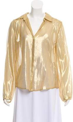 0ba2aac455237 Pre-Owned at TheRealReal · Diane von Furstenberg Gale Lamé Metallic Top