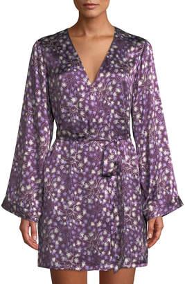 Morgan Lane Langley Dandelion Silk Short Robe