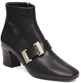 Delman Leather Ankle Boots $478 thestylecure.com