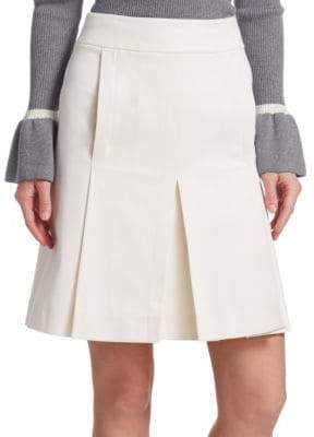 Akris Punto Box-Pleat A-line Skirt