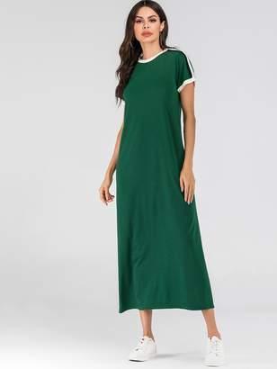 Shein Striped Tape Side Ringer Tee Dress