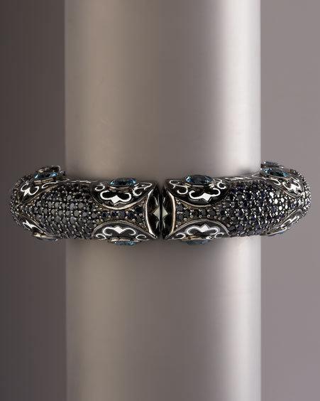 MCL by Matthew Campbell Laurenza Topaz & Sapphire Scroll Bracelet