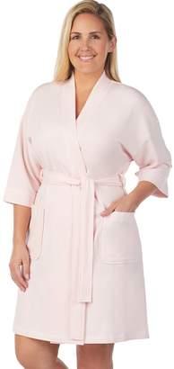 Stan Herman Plus Size French Terry Wrap Robe 10b0cfe24