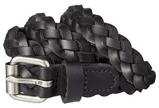 Women's Braided Black Leather Belt with Silver Buckle - Mossimo Supply Co. $16.99 thestylecure.com