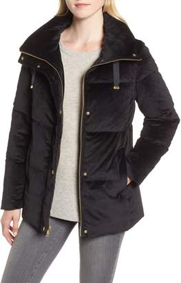 Cole Haan Quilted Velvet Jacket