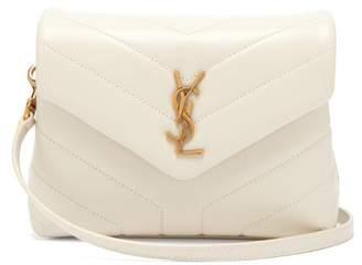 Saint Laurent Lou Lou Mini Leather Cross Body Bag - Womens - White