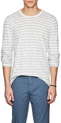ATM Anthony Thomas Melillo Men's Striped Cotton Long-Sleeve T-Shirt