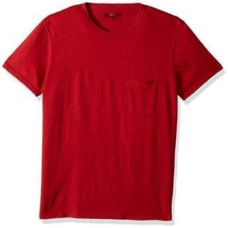 7 For All Mankind Men's Short Sleeve Raw Pocket Crew Neck Tee Shirt