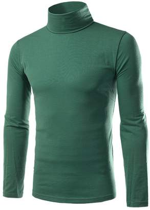 Paixpays Mens Casual Basic Turtleneck Slim Fit Pullover Pullover Sweaters Tops