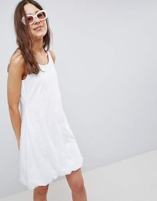 Asos DESIGN mini tank dress with gathered hem