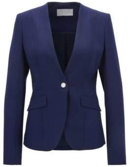BOSS Hugo Wool Blazer Jafalea 12 Blue