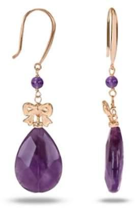 Tangelo 45 Carat T.G.W. Amethyst Pink Rhodium-Plated Sterling Silver Dangle Earrings