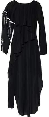 Chalayan Ruffled Chiffon Maxi Dress