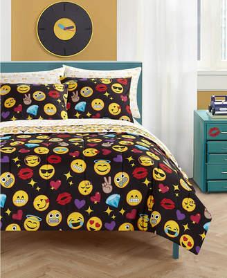 Idea Nuova Emoji Bling Bed In A Bag, Twin Xl Bedding