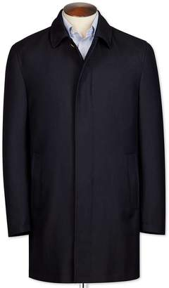 Navy Herringbone Wool Car Wool Coat Size 36 Regular