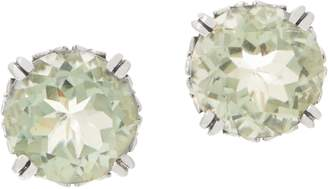 Stephen Dweck Sterling Silver Round Gemstone Stud Earrings 6.40 - 8.40cttw
