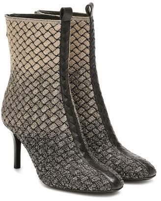Bottega Veneta Intrecciato knitted ankle boots