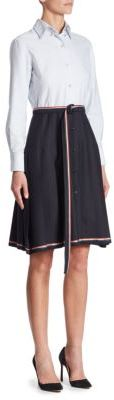 Thom Browne Belted Wool Shirt Dress $1,870 thestylecure.com