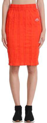 adidas By Alexander Wang by Alexander Wang Orange Jersey Skirt