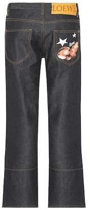 Loewe Embroidered straight-leg jeans
