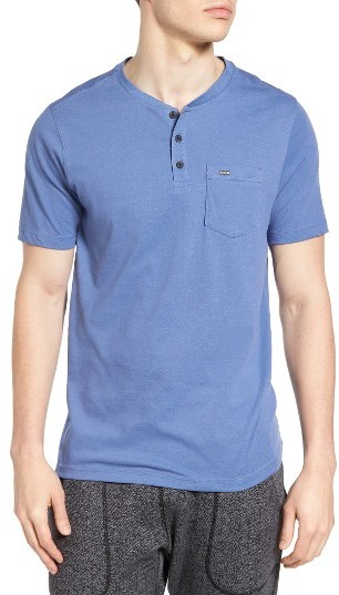 Men's Hurley Lagos 3.0 Dri-Fit Henley T-Shirt