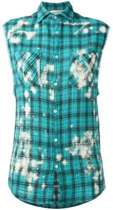 Faith Connexion plaid sleeveless shirt