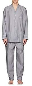 Barneys New York Men's Striped End-On-End Cotton Pajama Set - Gray