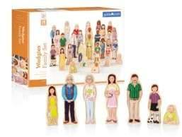 Guidecraft Wedgies Multi-Cultural Family Set