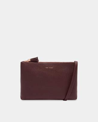 Ted Baker MACEYY Tassel leather double zip cross body bag