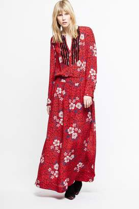 Zadig & Voltaire Remus Long Pensee Dress