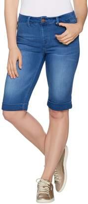 Laurie Felt Silky Denim Bermuda Pull-On Shorts