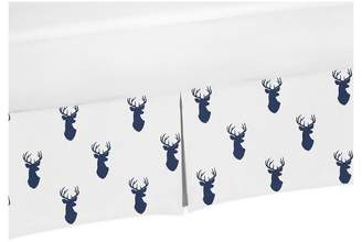 JoJo Designs Sweet Crib Skirt - Navy & White Stag