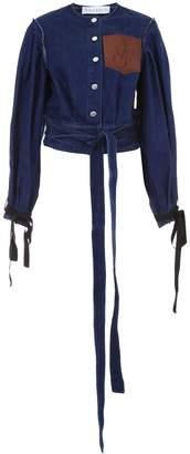 J.W.Anderson Denim Jacket With Leather Pocket