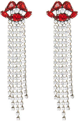 Tova Crystal Lip Fringe Earrings