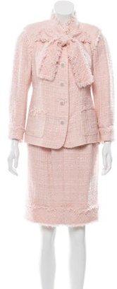 Chanel Silk Skirt Suit $1,285 thestylecure.com