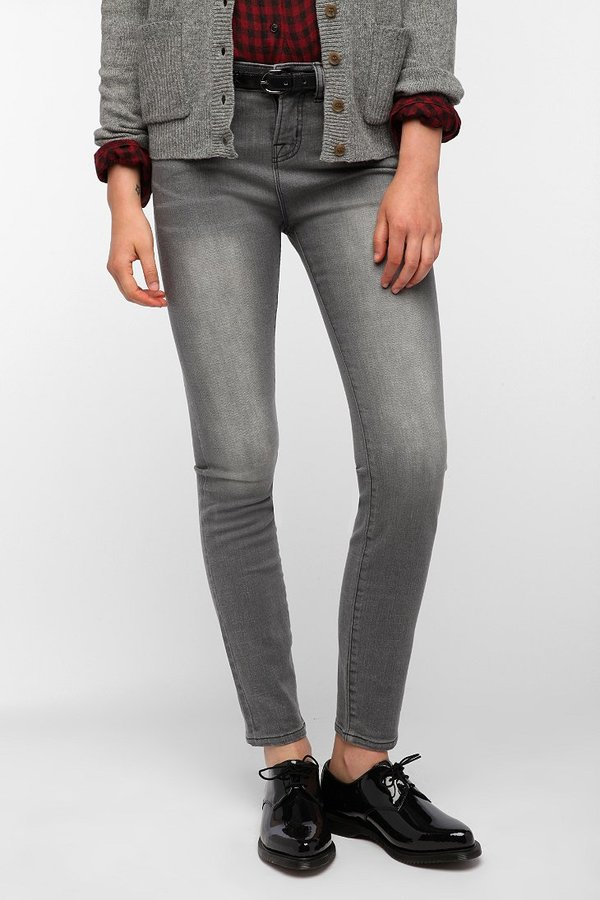 BDG Cigarette High-Rise Jean - Silver