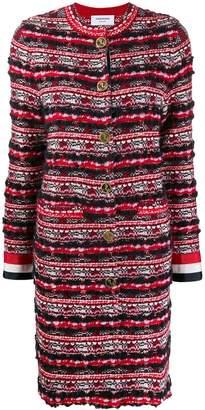 Thom Browne RWB Oversized Tweed Overcoat