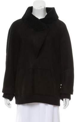 Proenza Schouler Suede Shearling Sweater