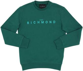 John Richmond Logo Print Cotton Sweatshirt