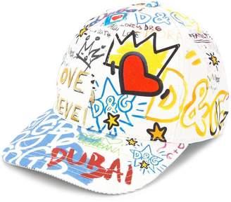 Dolce & Gabbana Dubai graffiti printed cap