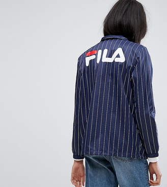 Fila Tall Pin Stripe Windbreaker With Logo Back Detail