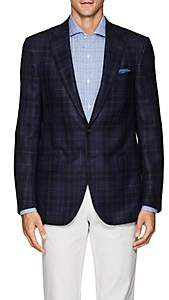 Isaia Men's Sanita Plaid Wool-Blend Two-Button Sportcoat-Navy